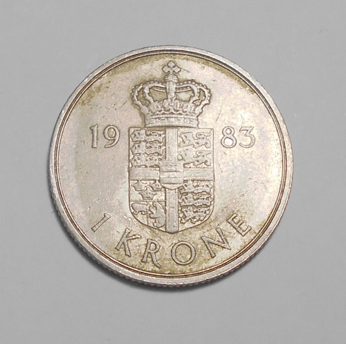 Dinamarca Moneda De 1 Corona 1983 - Km#862.3 - Margrethe Ii