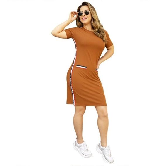 Vestido Feminino Tubinho Casual E Esportivo