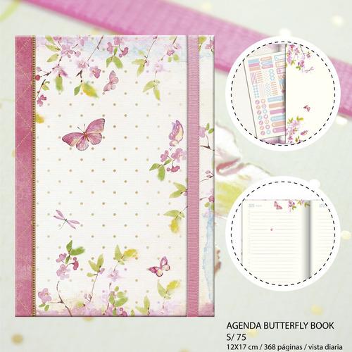 Imagen 1 de 5 de Agenda 2020 Butterfly Book Envío Gratis Lima