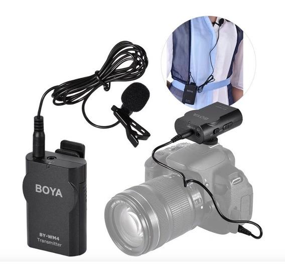 Microfone Boya By-wm4 Lapela Sem Fio Para Dslr E Smartphone