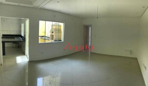 Apartamento À Venda, 95 M² Por R$ 445.000,00 - Vila Camilópolis - Santo André/sp - Ap1449