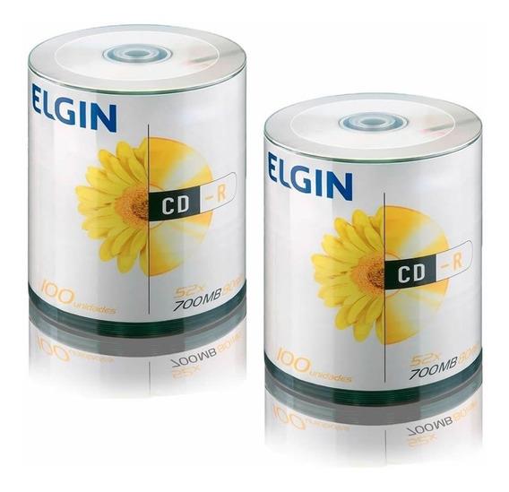 Cd Virgem Gravável Com Logo Cd-r 700mb/80min 52x Elgin 200un