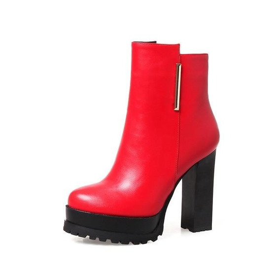 Ankle Boot Feminina J&k 50282 Importado Frete Grátis