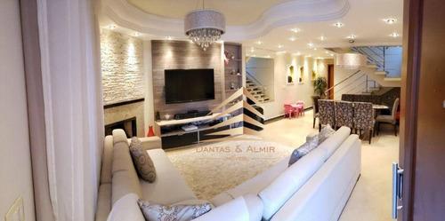 Imagem 1 de 30 de Sobrado Com 4 Dormitórios 2 Suite À Venda, 225 M² Por R$ 1.050.000 - Portal Dos Gramados - Guarulhos/sp - So0155
