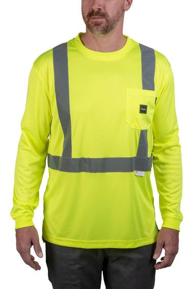 Camiseta Alta Visibilidad Reflejante Walls 3m Fosforecente