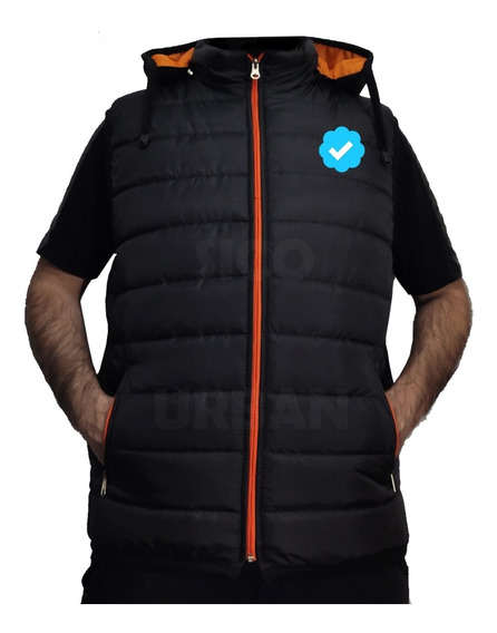 Chaleco Hombre Inflable Campera Capucha.
