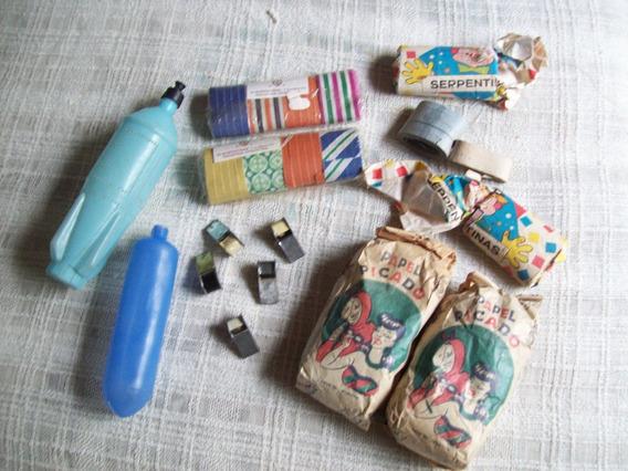 Productos Carnaval Antiguo . Papel. Serpentina. Pomos . Etc