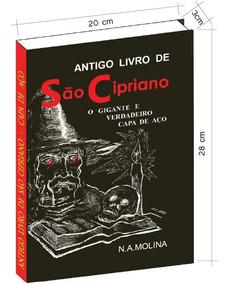 Antigo Livro De São Cipriano Gigante E Verdadeiro Capa Aço