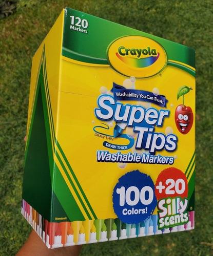 Plumones Crayola Supertips 120 Lettering Stock Nuevo