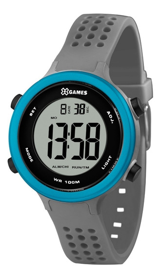 Relógio X-games Masculino Digital Xkppd069 Cinza Azul