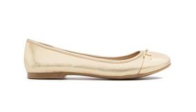 Flats Tipo Ballerinas Dorados Aldo Para Dama - Envío Gratis
