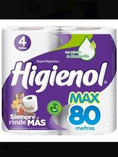 Papel Higiénico Higienol X 4 Unidades De 80 Mt