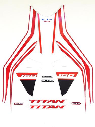 Imagem 1 de 4 de Kit Adesivos Titan 160 2020 Azul Faixas Adesivas Titan 2020