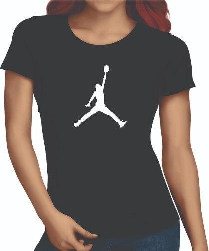 Camiseta Preta Jordan Enterrando Baby Look Camisa