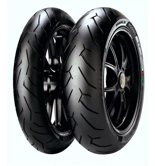 Par Pneus 150/60r17 + 110/70r17 Pirelli Rosso Ii P/ Duke 390