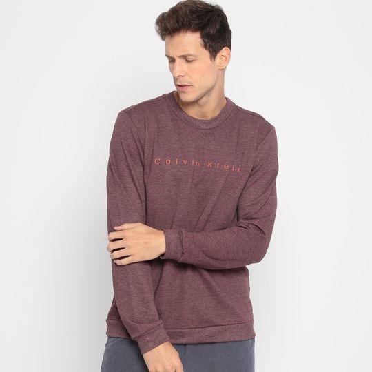 Blusa Careca Calvin Klein Freece Original Bordo