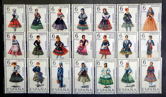 España, Serie Trajes Típicos Completa 53 Sellos Mint L8844