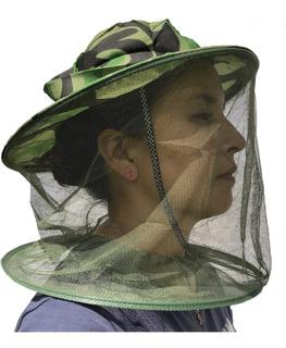 Sombrero Apicultor Velo Malla Anti Mosquitos Moscas Enjambre