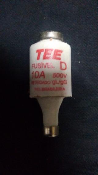 Kit Com 10 Fisiveis Diazed 10a 500v Gg/gl Retardado Tee