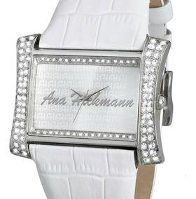 Relógio Feminino Ana Hickmann Quadrado Branco Ah28295q