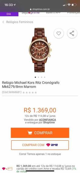 Relógio Michael Kors, Importado, Comprado Nos Eua. Lindo!!!!