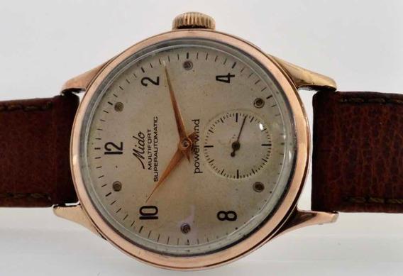 Relógio Mido No Date Aro Ouro 18k Antigo Automático