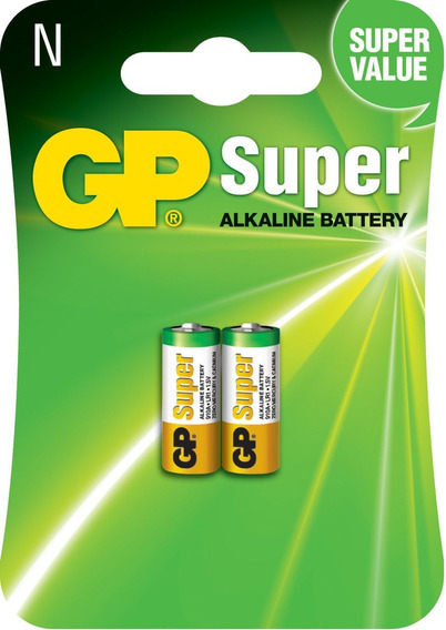 02 Pilhas Baterias Tipo N Lr1 Alcalina Gp - 01 Cartela C/2