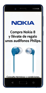 Nokia 8 Lte Pant 5.3 Qhd 64+4ram 13+13mp Azul Mate Msi