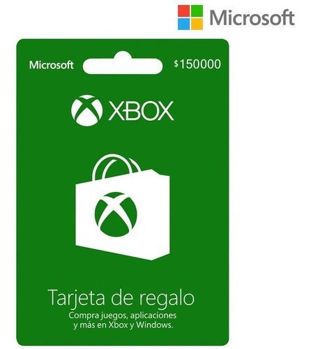 Tarjeta Regalo Xbox $150.000 Región Colombia