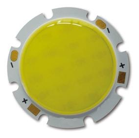10x Chip Led Cob Epistar 28mm 5w Branco Quente 450lm 15v