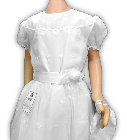 Vestido De Comunion Tul Bordado Elegante 108 Children´s