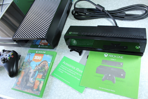 Xbox One 500gb Novinho Na Caixa Completo C/ Kinect E Jogo