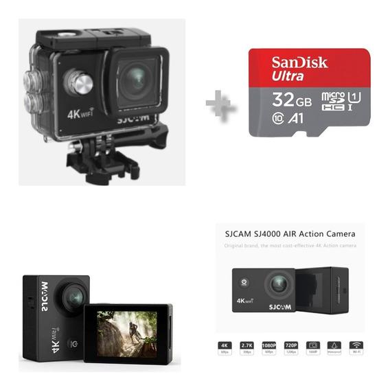Câmera Sjcam Sj4000 Air 4k + Cartão 32gb Original Sandisk