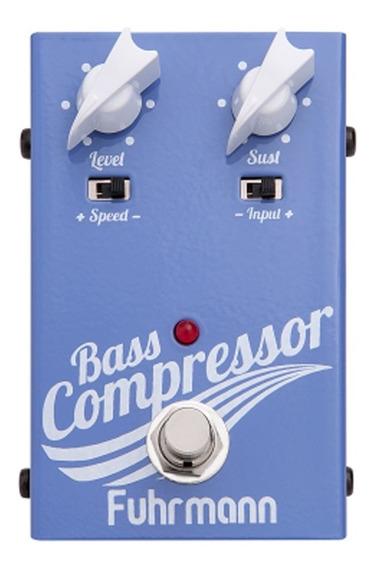 Pedal Contra Baixo Bass Compressor Fuhrmann Bc02 Roxo
