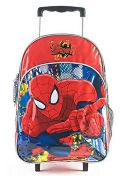 Mochila Con Carro Hombre Araña Spiderman Duendesyprincesas