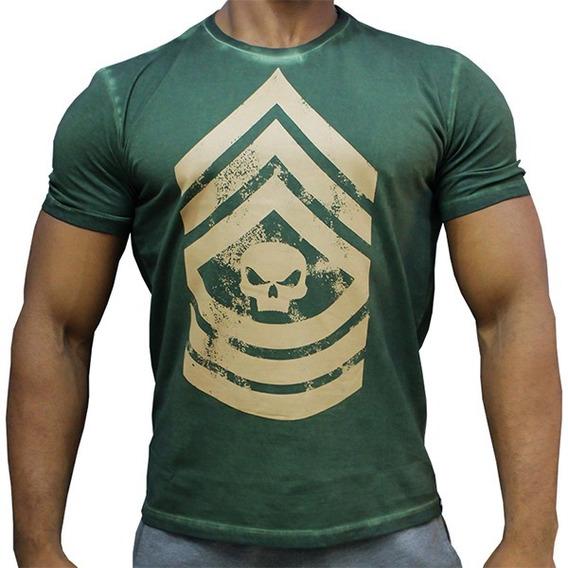 Camiseta T-shirt Military - Verde / Grafite - Black Skull