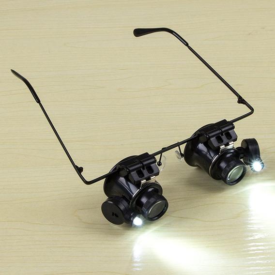 Tipo Óculos 20x Binocular Lupa Relógio Reparação Ferrame