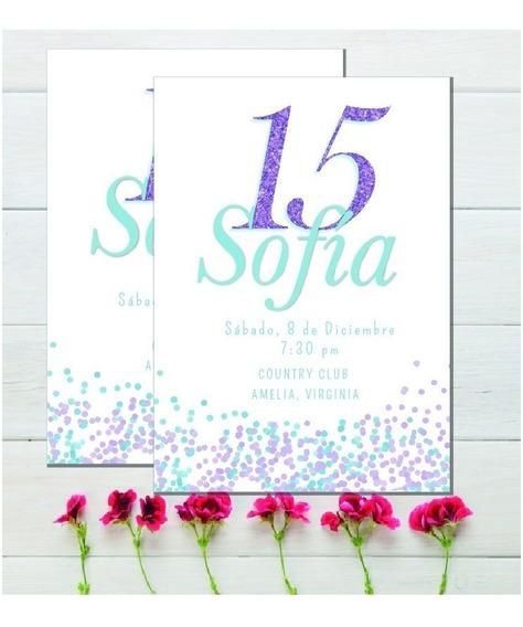 Tarjeta Invitacion Imprimible 15 Años Editable