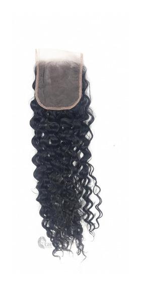 Prótese Capilar De Cabelo Orgânico Human Hair 10x10 Cacheado-closure- Lace Tela -densidade Alta - Macio - Sustentavel