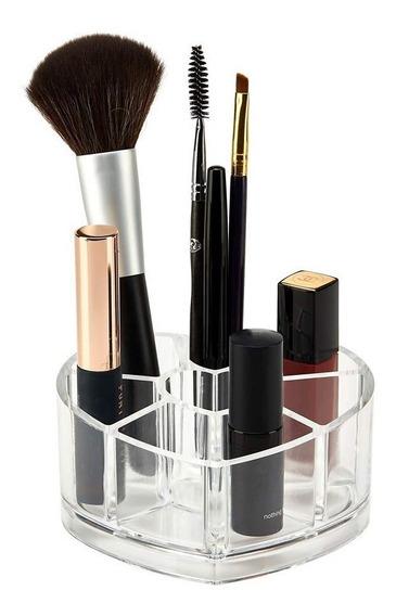 Organizador Maquillaje Acrilico Cosmeticos Brochas Alhajero