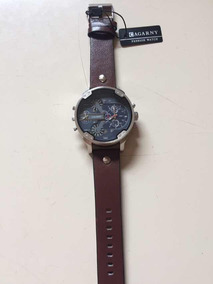 Relógio Masculino Cagarny Quartz Pulseira Couro Mod. 6820