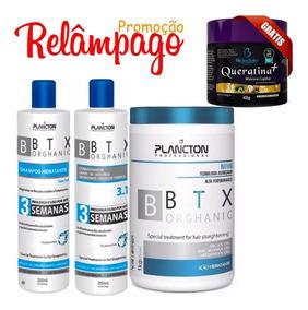Btox Plancton Organico 1kg Shampo Cond 250ml Masc Queratina