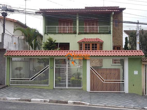 Lindo Sobrado No Jardim Bom Clima Com 3 Dormitórios À Venda, 368 M² - Jardim Bom Clima - Guarulhos/sp - So0333