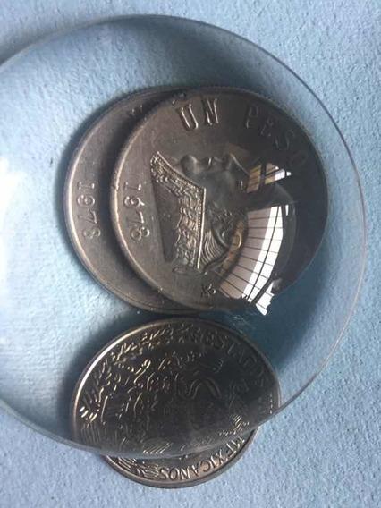 Moneda Un Peso Niquel 1978 Morelos 8 Abierto Bonita Pieza