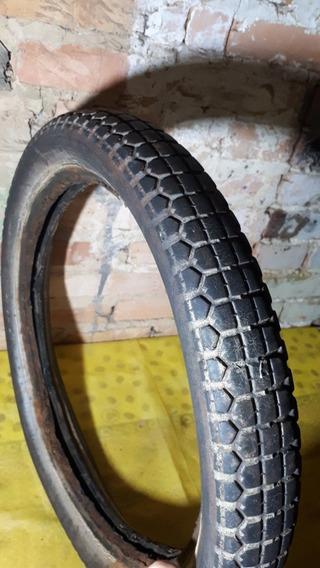 Pneu Dunlop Dianteiro Antigo De Moto Medida 3.00-16