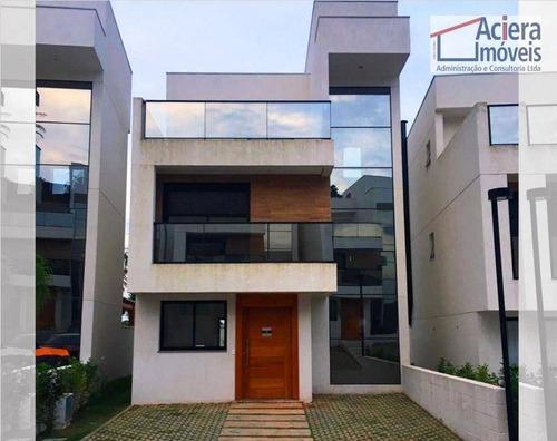 Imagem 1 de 30 de Casa Com 3 Quartos (01 Suíte), 147 M² - Authentiq Granja Viana - Cotia/sp - Ca2698