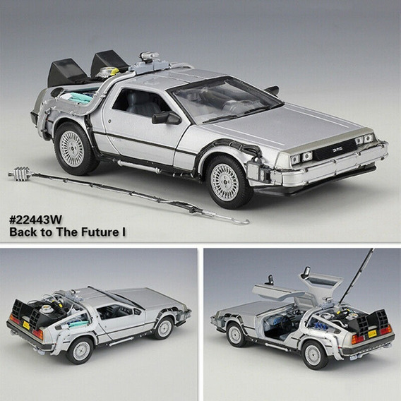 Delorean Time Machine Back To The Future 1 - Welly 1/24