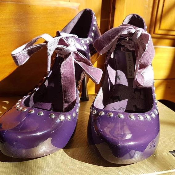 Sapato Salto Alto Melissa Disco + Docdog Tamanho 35