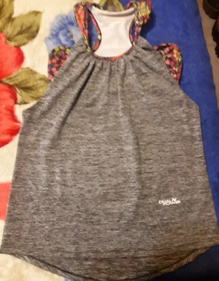 Musculosa Deportiva Dual Poder Gris Con Top