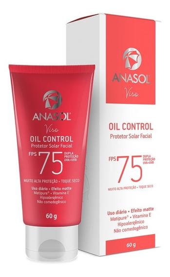 Anasol Protetor Solar Facial Oil Control Fps 75 60 G